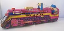 VINTAGE TINPLATE MODERN TOYS RED MOUNTAIN 3963 TRAIN ENGINE - MADE IN JAPAN.