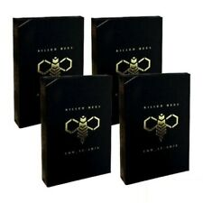 More details for 4x killer bees playing cards - magic poker deck ellusionist not bicycle
