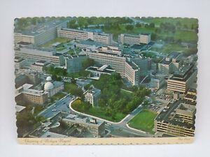 Vintage University Of Michigan Hospital Ann Arbor Postcard Aerial View