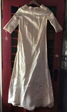 Vintage 1950's Wedding Dress Union Made Ilgwu Afl-Cio lace and beading size 10