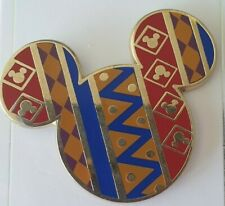 Disney Parks Mickey Mouse Head Icon African Pattern Pin 2016 Small Scratch