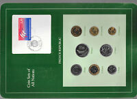 Coin Sets of All Nations France French 1988 -1989 UNC 1/2, 2 Francs 1989 83000