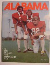 Alabama Football Program-1978-USC-Legion Field