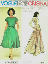 "1975 Vintage VOGUE Sewing Pattern B36"" DRESS (1919) By Nina Ricci"