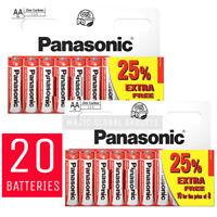 20 x AA Genuine PANASONIC Zinc Carbon Batteries New R6 1.5V Battery EXPIRY 2022