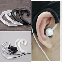 2 Pairs Removable Silicone Clip Hook Earhook Wire Hanger EarHook for Earphone