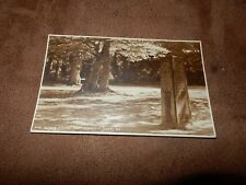 1920s postcard - Rufus stone - New Forest