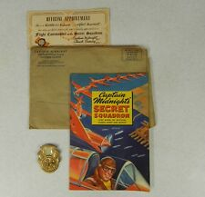 1942 Captain Midnight Manual & Photo-Matic Decoder Badge & Original Mailer