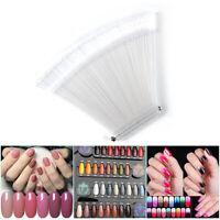 50PCS Nail Swatches Sticks Fan-shaped Nail Art Tips Polish Display Board HJH