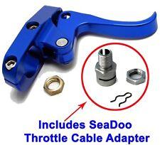 Seadoo Finger Throttle Lever CNC Billet Blue & Sea-Doo Cable Adapter