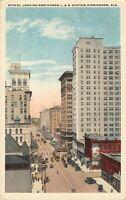20th Street Looking North L&M Birmingham AL Alabama Chrome Lithograph Postcard
