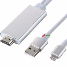 2M 8pin Lightning To AV HDMI/HDTV TV Cable Adapter For iPhone 5S 6 6S Plus iPad4