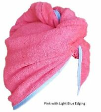 BEAUTIFUL PINK HEAD WRAPS QUICK HAIR DRY HAIR TURBAN 100% COTTON TERRY TOWEL