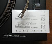 2 x Technics decal sticker SL1200 mk2 LTD LIMITED EDITION - Printed SILVER