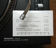 2 x Technics decal sticker SL1200 mk2 LTD LIMITED EDITION - Printed SILVER