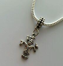 Silver Tone Scarecrow Dangle Charm Bead For European Style Bracelet USA