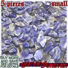 5 Small 10mm Free Ship Tumbled Gem Stone Crystal Natural - Sodalite