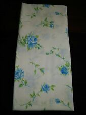 New listing Vintage Pacific Miracale Twin Fitted Sheet Blue Flowers *I*