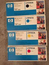 4 Genuine HP Color LaserJet 1500 2500N Printer TONER C9700A C9701A C9702A C9703
