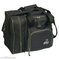 BSI Deluxe Single Bowling Ball Bag BLACK w Free Towel & free ship USA $30.95
