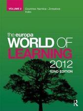 Europa World Of Learning 2012 Volume 2 (Volume 2)