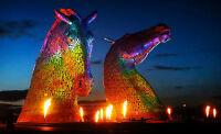 Enmarcado Estampado - El Kelpies en La Hélice Escocia (Imagen Póster Arte Fotos