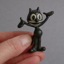 RARE Vintage/Antique FELIX THE CAT Cold Painted SOLID BRONZE Miniature CARTOON