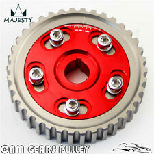 Adj Cam Gear Pulley Timing Gear For Honda SOHC D15 D16 D-Series Engine Red