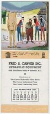 Summit, NJ, Fred Carver, Mt  Boys, Feb 1957 Calendar advertising blotter