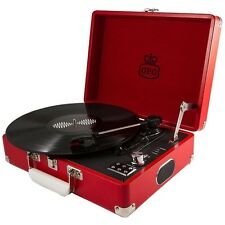 GPO Attache Pillarbox Red Portable Briefcase Record Player Vinyl Turntable