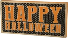 Primitives By Kathy Happy Halloween Box Sign