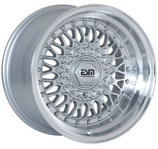 "RS STYLE Wheels Rims Silver 15x9 5x100 4x100 Wheels Rims BMW E30 4"" LIP"