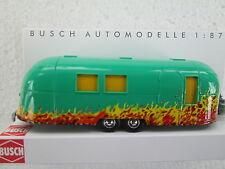 Busch (HO 1:87)  Airstream Trailer w/Flames #44983