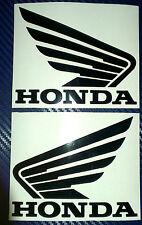 2x Honda Wings (Pair) Tank Helmet Motorcycle Van Car Vinyl Decals Stickers