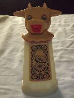 VINTAGE WHIRLEY IND WARREN PA PENNA USA COW DAIRY MILK CREAMER PLASTIC PITCHER