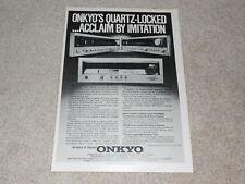 Onkyo TX-8500, 4500 Empfänger AD, 1978, Specs, T-9 Tuner