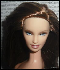 NUDE BARBIE (B) DOLL LONE STAR BFC EXCLUSIVE BRUNETTE/AUBURN BLUE EYES FOR OOAK