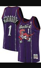 3XL!!! Tracy McGrady #1 Mitchell and Ness Toronto Raptors Purple Jersey