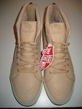 0172b5b865d1d9 Vans Sk8-Hi Reissue Zipper Mens Veggie Tan Leather Skate shoes Size 10.5 NWT