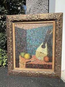FANTASTIC POINTILLIST PAINTING THAT EVEN SURAT will ENVY - COLORFUL Still life