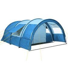 XXL Familienzelt 4 Personen Zelt Großes Campingzelt 5000 mm Tunnelzelt hellblau