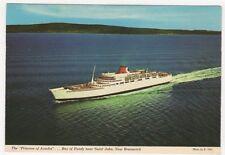 Princess of Arcadia, Bay of Fundy Saint John New Bruswick Shipping Postcard B617