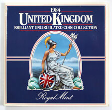 1984 United Kingdom BU Uncirculated Coin Set Royal Mint 8 Coins