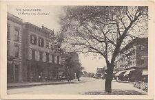 View on the Boulevard in Rockaway Beach Long Island NY Postcard