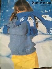 Knitting Pattern  Snowflake Snowman Scarf And Gloves Set DK Vintage