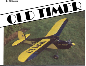 """Old Timer"" Vintage   / RC Printed Plans"