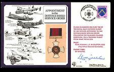 Jersey 1984 raf DM4 ordre du service distingué médaille piloté signé cover #C38181