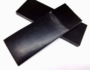 Pair of Black Canvas Micarta Scales Knife Handle Making Blanks Crafts BLK-MIC
