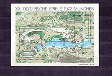 ALLEMAGNE Germany Bloc Feuillet Yvert N°  6 oblitéré Jeux Olympiques  MUNICH 72