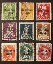 Dt. Reich Aufdruckmarken Abschied Bayern Mi-Nr. 119-27 gestempelt, Versandwahl